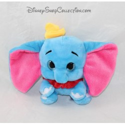 Plush elephant Dumbo DISNEY big eyes rose blue 16 cm