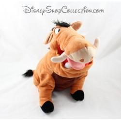 Peluche phacochère Pumba DISNEY STORE Le Roi Lion marron Disney 34 cm