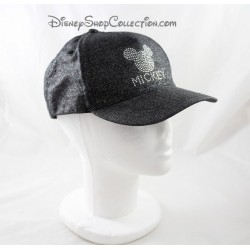 Cap Mickey DISNEYLAND PARIS rhinestone glitter grey black adult
