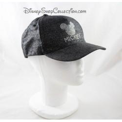 Casquette Mickey DISNEYLAND PARIS strass paillettes gris noir adulte