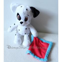 Peluche mouchoir chien DISNEY NICOTOY Les 101 Dalmatiens blanc rouge 28 cm