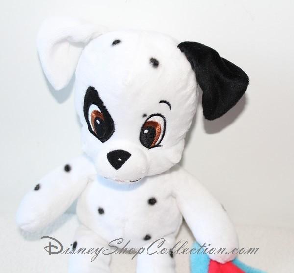 Peluche mouchoir chien DISNEY NICOTOY Les 101 Dalmatiens blanc roug...