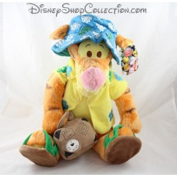Plush DISNEY STORE vacancy Tigger shirt Hawaiian blue 37 cm Hat
