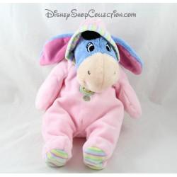 Plush donkey Eeyore DISNEY NICOTOY Pajamas pink legs scratched 30 cm