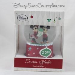 14 cm snow globe snow globe Mickey Minnie DISNEY STORE Christmas 2014