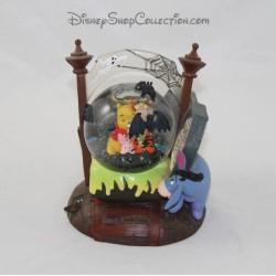 Snowglobe Winnie l'ourson DISNEY STORE Halloween Porcinet Tigrou Bourriquet 13 cm