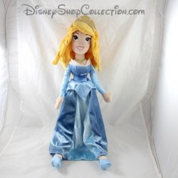 Doll plush Aurore DISNEY PARKS La Belle sleeping beauty dress blue 55 cm