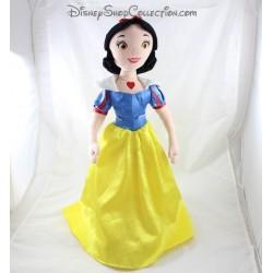 Poupée peluche Blanche Neige DISNEY STORE robe jaune bleu 54 cm