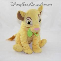 Peluche lion Simba NICOTOY Disney Le Roi lion écharpe feuille verte au cou 28 cm