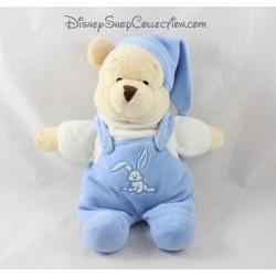 Plush Winnie the Pooh DISNEY STORE blue Cap jumpsuit White Rabbit