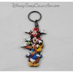 Porte clés multi personnages DISNEYLAND PARIS Mickey, Minnie, Dingo et Donald Disney pvc 9 cm