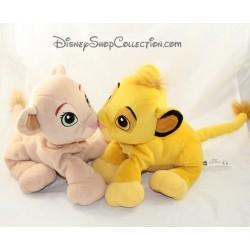 Peluche Simba et Nala DISNEY bisou museau aimant Le roi lion 24 cm
