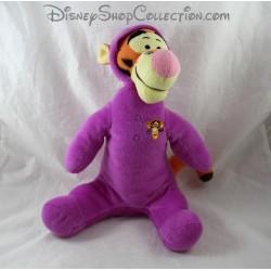Peluche Tigrou DISNEY combinaison pyjama violet 32 cm