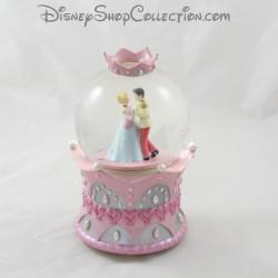 Snowglobe musical DISNEY Cendrillon couronne rose boule à neige 19 cm