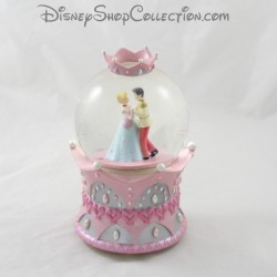 SnowGlobe musical DISNEY Cinderella Crown pink snow ball 19 cm