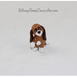 Figurine di cane Rouky BULLY Walt Disney produzioni 1980 5 cm