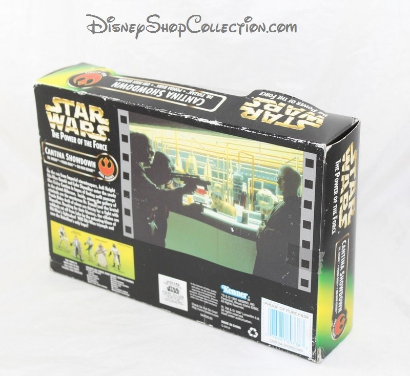 Neuf Star Wars Power of the Force Cantina Showdown 1997 avec 3 figurines