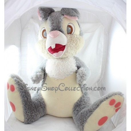 Giant plush rabbit Panpan DISNEYLAND PARIS Bambi grey Disney 60 cm
