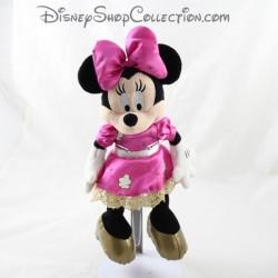 Peluche Minnie DISNEYLAND PARIS robe rose doré Disney 27 cm