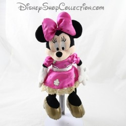 Plush Minnie DISNEYLAND PARIS pink gold dress Disney 27 cm