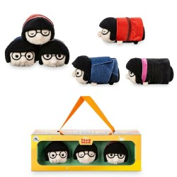 Ensemble mini peluche 3 Tsum Tsum Edna DISNEY STORE Les indestructibles 2 9 cm