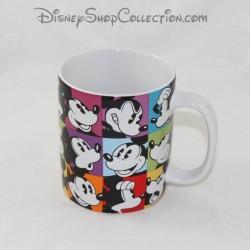 Mug Mickey DISNEYLAND PARIS square multiple faces expressions mug Disney 11 cm