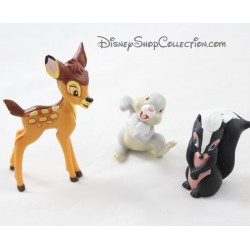 Lot de 3 figurines Bambi DISNEY Bambi Fleur et Pan-Pan