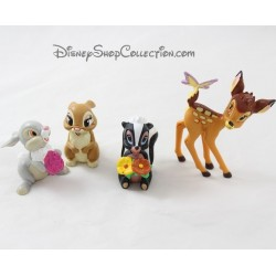 Lot de 4 figurines Bambi DISNEY Bambi Fleur Miss Bunny et Pan-Pan