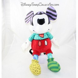 Plush Mickey BRITTO DISNEY Enesco heart red green purple 40 cm