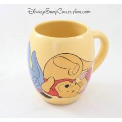Mug Winnie the Pooh DISNEY STORE yellow Burriquet Winnie and piglet