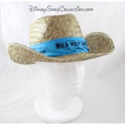 Chapeau de paille Buffalo Bill's DISNEYLAND PARIS Wild West Show bleu