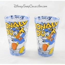 Lot de 2 verres évasés Donald DISNEY bande dessinée 12 cm