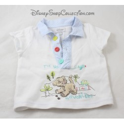 Polo bébé Simba DISNEY STORE Le Roi Lion bleu blanc 0-3 mois