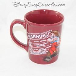 Mug haut nain Grincheux DISNEY Warning avertissement tasse céramique relief 3D