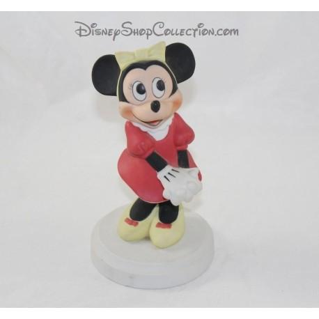 Figurine Minnie DISNEY red dress biscuit porcelain 19 cm