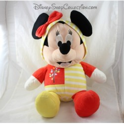 Large plush Minnie DISNEY NICOTOY red yellow hooded tree 55 cm