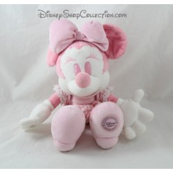 Peluche Minnie DISNEY STORE rose blanc robe vichy 29 cm