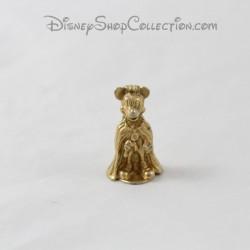 Topolino DISNEY fava di metallo dorato vestito come principe 3 cm