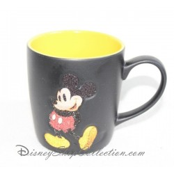 Mate taza Mickey DISNEYLAND PARIS negra y amarilla taza de cerámica