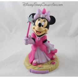 Tirelire Minnie DISNEYLAND PARIS fairy dress pink wand star plastic 22 cm
