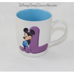 Mug Mickey DISNEYLAND PARIS letter L cup ceramic ABC