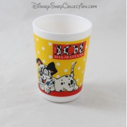 White Glass The 101 Dalmatians DISNEY ceramic cup 8 cm