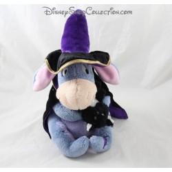 Peluche âne Bourriquet DISNEY STORE déguisé en sorcier chat noir Halloween 27 cm