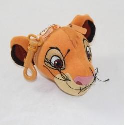 Porte clés tête Simba DISNEY Le roi lion peluche 12 cm