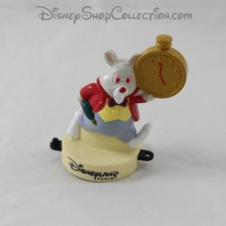 White rabbit figure DISNEYLAND PARIS Mcdonald's Alice in Wonderland stamp Mcdo Disney 9 cm