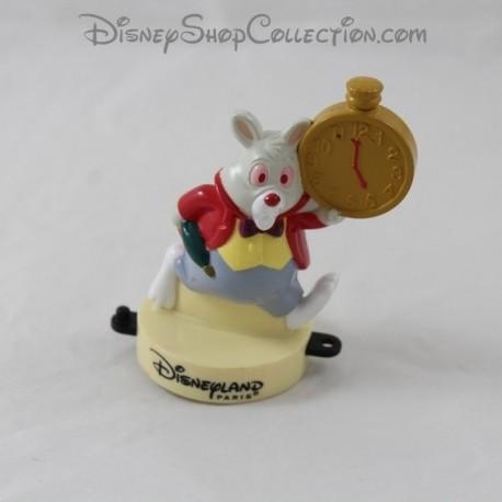 White rabbit figure DISNEYLAND PARIS Mcdonald's Alice in Wonderland stamp Mcdo Disney 9 cm