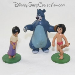 Lot of 3 Disney figurines The Jungle Book Mowgli, Baloo and Shanti