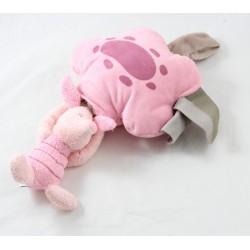 Toalla musical Piglet DISNEY STORE bebé nube rosa 26 cm