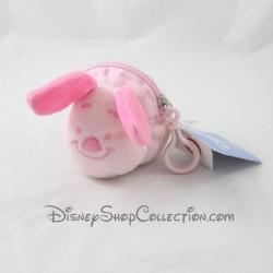 Porte clés peluche Porcinet DISNEY porte monnaie rose 11 cm
