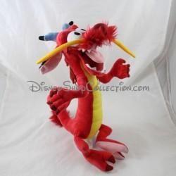 Peluche dragon Mushu DISNEYLAND PARIS Mulan rouge Disney 38 cm